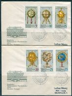 10498) DDR - Mi 1792 / 1797 - 2 Briefe - Erd- Und Himmelsgloben - [6] Democratic Republic