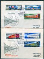 10499) DDR - Mi 1844 / 1849 - 2 Briefe - Schienenfahrzeugbau - [6] Democratic Republic