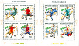 BURUNDI 2014 - Coupe Du Monde Brasil 2014 - 8 T. En 2 Feuillets - Burundi