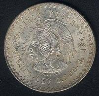 Mexiko, 5 Pesos 1948, Silber , 30 G, AUNC - Mexico