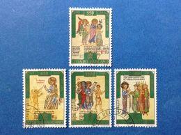 1996 VATICANO FRANCOBOLLI USATI STAMPS USED VERSO ANNO SANTO DEL 2000 - Vatican