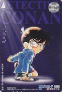 Carte Prépayée JAPON - CINEMA - MANGA - DETECTIVE CONAN - Movie JAPAN Prepaid Subway Card - Holmes 12040 - BD