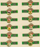 Champignons Champignon 12 Bagues Arendonk P.P. Rubens N° 1 à 12 Fond Vert - Bagues De Cigares