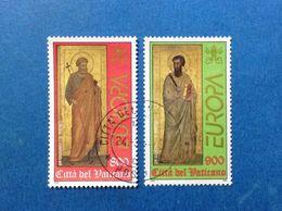 1998 VATICANO FRANCOBOLLI USATI STAMPS USED EUROPA SAN PAOLO E SAN PIETRO - Vatican