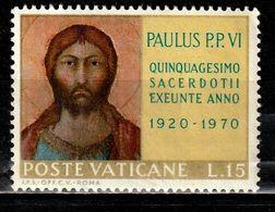 VATICAN 505° 15l 50ème Anniversaire De L'ordination De Paul VI (10% De La Cote + 0,25) - Oblitérés