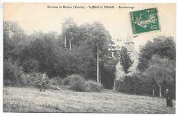 Cpa...environs De Mortain..(manche)...St-Jean-du-Corail...bourberouge...animée... - Autres Communes