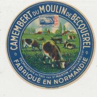 Y 483  /   - ETIQUETTE DE FROMAGE-  CAMEMBERT DU MOULIN DE BECQUEREL  FROMAGERIE DU THIL   (SEINE  MARITIME) - Formaggio
