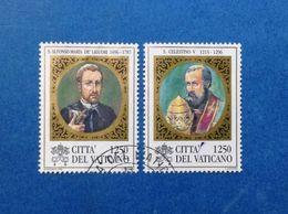 1996 VATICANO FRANCOBOLLI USATI STAMPS USED S ALFONSO MARIA DE LIGUORI E S CELESTINO V - Vatican