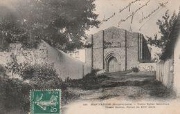MONTFAUCON SUR MOINE Vieille église Saint-Jean – Cœur Roman Circulée Timbrée 1911 - Montfaucon