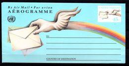 G39-15 Nations Unies Bloc Bel Aérogramme ** - Poste Aérienne