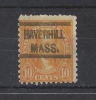 "U.S.A....."" 1922..""......HAVERHILL MASS.........PRE- CANCEL...... - United States"