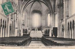 MONTFAUCON SUR MOINE Intérieur De L'église ( Chœur ) Circulée Timbrée - Montfaucon