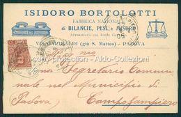 Padova Cartolina Pubblicitaria Bilance Bortolotti FP P484 - Padova (Padua)