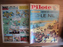 PILOTE N°326 DE 1966. LE NIL GOTLIB / RENE GOSCINNY / BARBE ROUGE / JEAN MICHEL CHARLIER / VICTOR HUBINON / NORBERT ET - Pilote