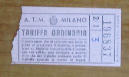 ITALIA Ticket  Bus   ATM Milano  Biglietto - Europe
