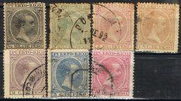 Lote Sellos PUERTO RICO 1890, Colonia Española, Num 71 A 82 Varios º - Puerto Rico