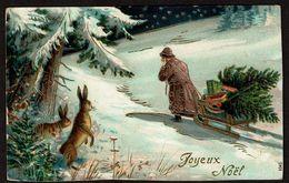 CPA Légèrement Gaufrée - Light Embossed PC - Joyeux Noël - Circulée En 1909 - 2 Scans - Autres