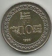 Sri Lanka 10 Rupees 1998. High Grade - Sri Lanka