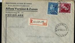 Doc. De KNESSELARE Du 27/03/51  En Rec. - Marcophilie