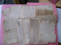Lot 11 Vieux Papiers GENERALITE De RIOM AUVERGNE De La 1/2 Feuille à La Liasse Fin XVII Début XVIII ème Siècle - Historische Dokumente
