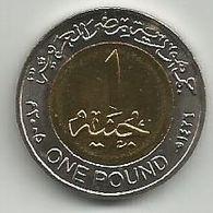 Egypt 1 Pound 2005. Non-magnetic High Grade Km#940 - Aegypten
