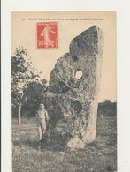 37 SAINTE MAURE MENHIR DES ARABES OU PIERRE PERCEE CPA BON ETAT - Dolmen & Menhirs