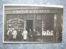 CARTE PHOTO - PARIS - COMMERCE VERRERIES, PORCELAINES - CORSIN ET LENOIR - Autres