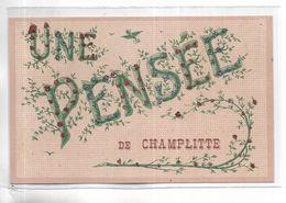 70 - Une Pensée De CHAMPLITTE. Carte Ornée De Brillants - Francia