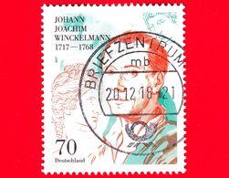 GERMANIA - Usato - 2017 - 300 Anni Della Nascita Di Johann Joachim Winckelmann,  Storico Dell'arte E Archeologo - 70 - Usados