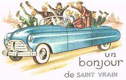 91 UN BONJOUR  DE SAINT VRAIN      CPM  TBE  91-01 - Saint Vrain