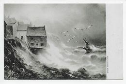 Robin Hood Bay - Artist G.E. Newton - Tuck Series 6352 - Scarborough