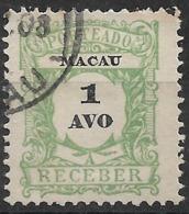 Macao Macau – 1904 Postage Due 1 Avo Used Stamp - Macao
