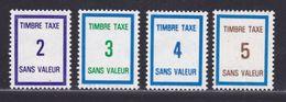 FRANCE FICTIF TAXE N° FT37 à FT40 ** MNH Timbres Neufs Gomme D'origine - TB - Phantom