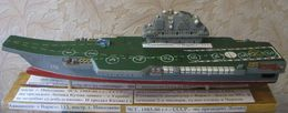 USSR Soviet Russia Model Of The Heavy Aircraft Carrier Cruiser Project 1143.6 Riga Varyag Liaoning Warship Ship Handmade - Barche