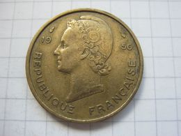 French West Africa , 25 Francs 1956 - Colonies