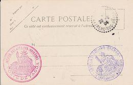 """RARE -Algerie -1904 -cachet """"service Des Affaires Indigenes  Poste De TAGDA""""  Sur Cpa De Taghit - 2 Scan - Bolli Militari A Partire Dal 1940 (fuori Dal Periodo Di Guerra)"""