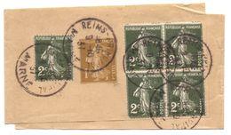 France Bande De Journal Type Semeuse Avec Complément D Affranchissement 5 X 2 C - Postal Stamped Stationery