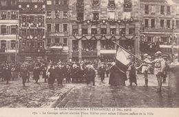 VISITE PRESIDENTILLE A STRASBOURG 8/12/1918 LE CORTEGE OFFICIEL PLACE KLEBER ...... - Strasbourg