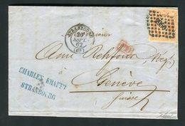 Belle Lettre De Strasbourg Pour Genève ( Suisse 1862 ) Avec Un N° 16 - 1849-1876: Période Classique