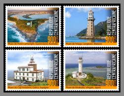 CENTRALAFRICA 2020 MNH Lighthouses Leuchttürme Phares 4v - OFFICIAL ISSUE - DHQ2024 - Phares