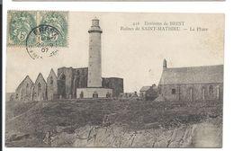 Ruines De SAINT-MATHIEU Et Le PHARE - PLOUGONVELIN 1905 - VENTE DIRECTE X - Plougonvelin