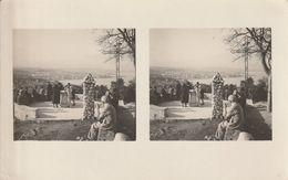 Carte Photo STEREOSCOPIQUE 1932 VUE DU PHARE DE LA GAROUPE DU CAP ANTIBES Sur GOLF JUAN Baie Des Anges NICE - Multi-vues, Vues Panoramiques