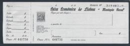 Cheque Da Caixa Económica De Lisboa De 1977. Check. Chèque. Überprüfen. Controleer. Tjek. Controlla. - Chèques & Chèques De Voyage