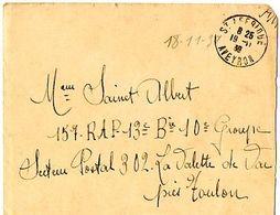 C2    1939 Lettre+ Courrier En FM   Pour SP 302 La Valette Du Var Pres De Toulon - Guerra Del 1939-45