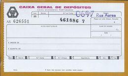 Cheque Da Caixa Geral De Depósitos De 1970. Check. Chèque. Überprüfen. Controleer. Tjek. Controlla. - Chèques & Chèques De Voyage
