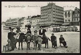 Blankenberghe - Promenades à Dos D'ânes Sur La Plage - Edit. Légia - 2 Scans - Blankenberge