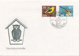 DDR Brief 1973 - 35 + 40 Pf, Naturschutzwoche  (Brief Ohne Inhalt) - [6] Democratic Republic