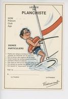 """Licence Du Skieur """"sous-marin à Voile"""" Sports De Glisse - Serie Licence N°886/3 - Humour"""