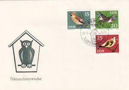 DDR Brief 1973 - 15 + 20 + 25 Pf, Naturschutzwoche  (Brief Ohne Inhalt) - [6] Democratic Republic