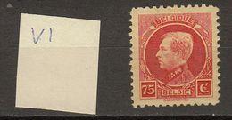Belgie - Belgique Ocb Nr :  212 - V ** MNH   (zie Scan)  Driehoek In 7 - 1921-1925 Small Montenez